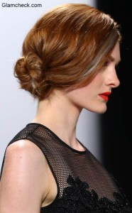 Low Side Bun – Hairstyle Trend at Carmen Marc Valvo Show