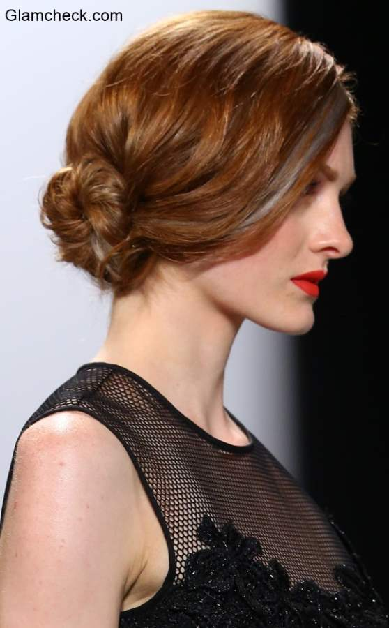 Low Side Bun - Hairstyle Trend at Carmen Marc Valvo Show