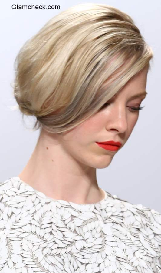Low Side Bun Hairstyle