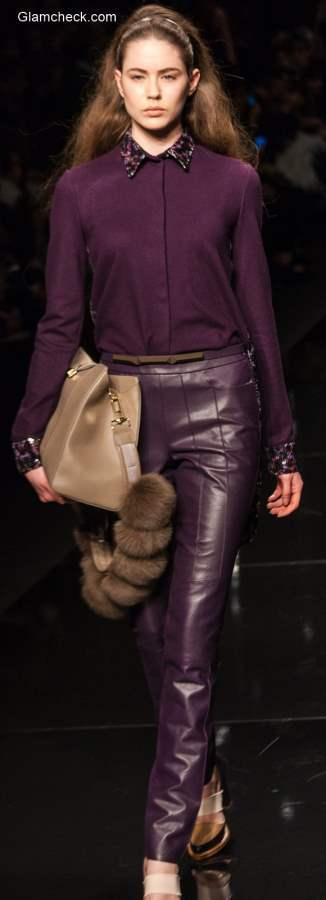 Purple Chiffon Blouse Formal Festive Wear
