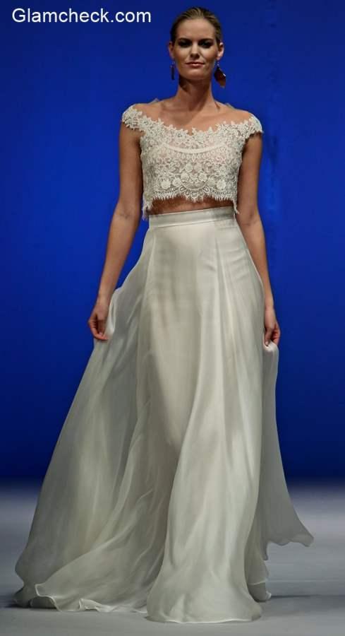 Runway Bridal Crop Top and Skirt Trend - Limor Rosen Fall-Winter 2016