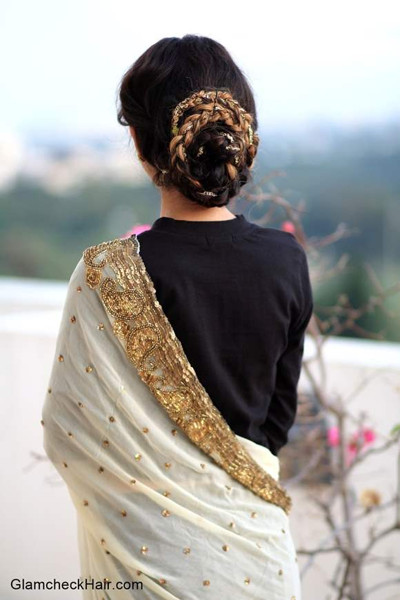 Timeless and Classy Bun Hairstyle for Indian Weddings and Festivals