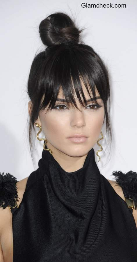 Top Knot Hairstyles Kendall Jenner