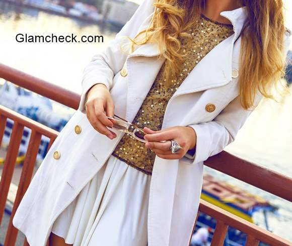 White and Gold Fashion