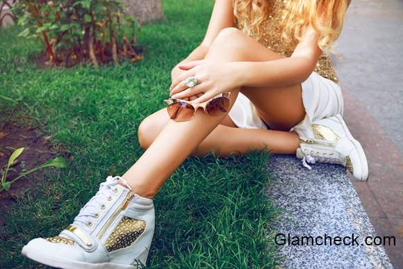 White and Gold Festive Fashion