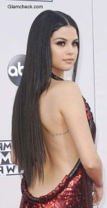 Backless Gown – Selena Golmez goes Backless  at 2015 AMA