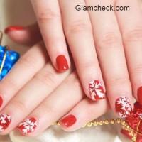 Christmas Nail Art Snowflakes