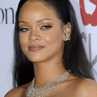 Long Hair - Rihanna latest hairstyle at the 2nd Annual Diamond Ball