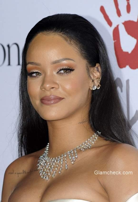 Long Hair - Rihanna latest hairstyle at the 2nd Annual Diamond Ball