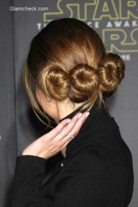 Maria Menounos's Princess Leia inspired Hairstyle
