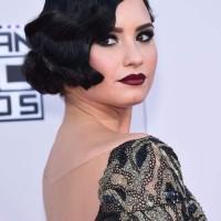 Retro Bob Hairstyle Demi Lovato