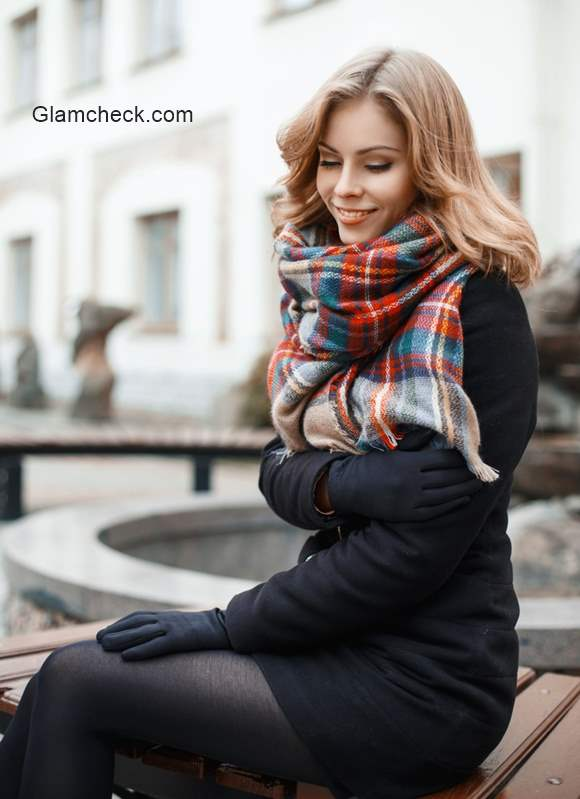 Styling Plaid Winter Scarf
