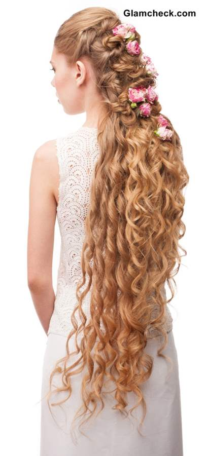 Hairstyle for Very Long Curly Hair