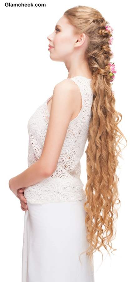 Hairstyle for Very Long and Curly Hair
