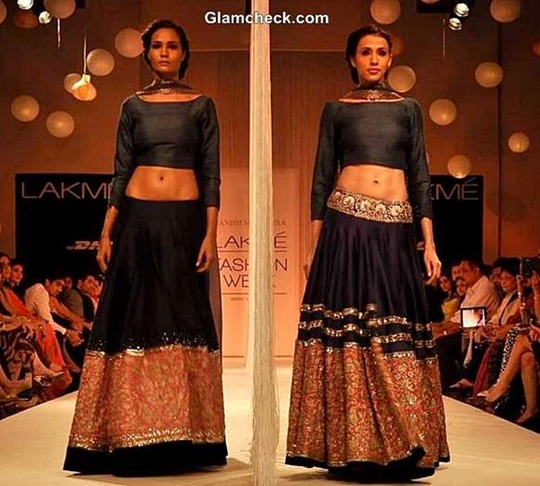 How to Wear Maxi Skirt with Crop The Indian Way