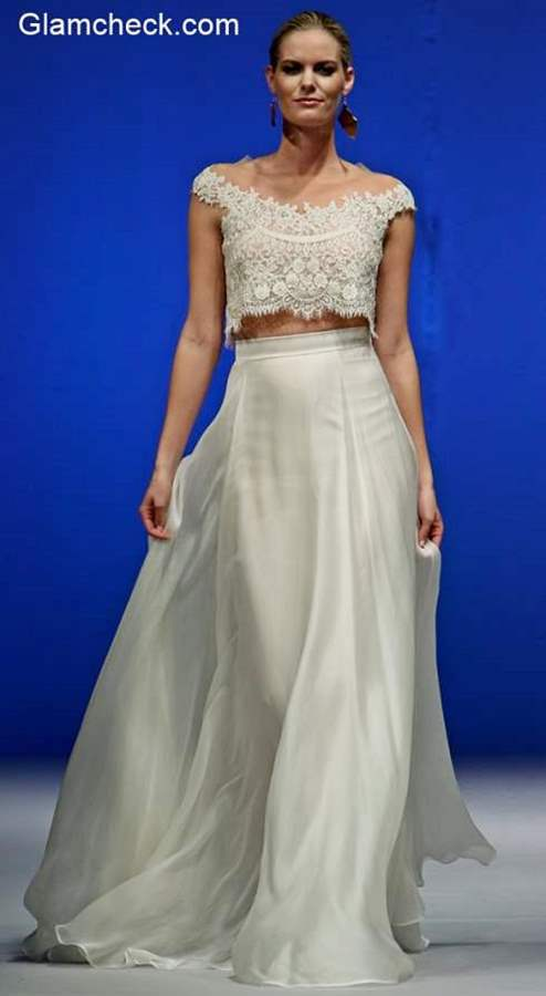 How to Wear Maxi Skirt with Crop for Bridal Look