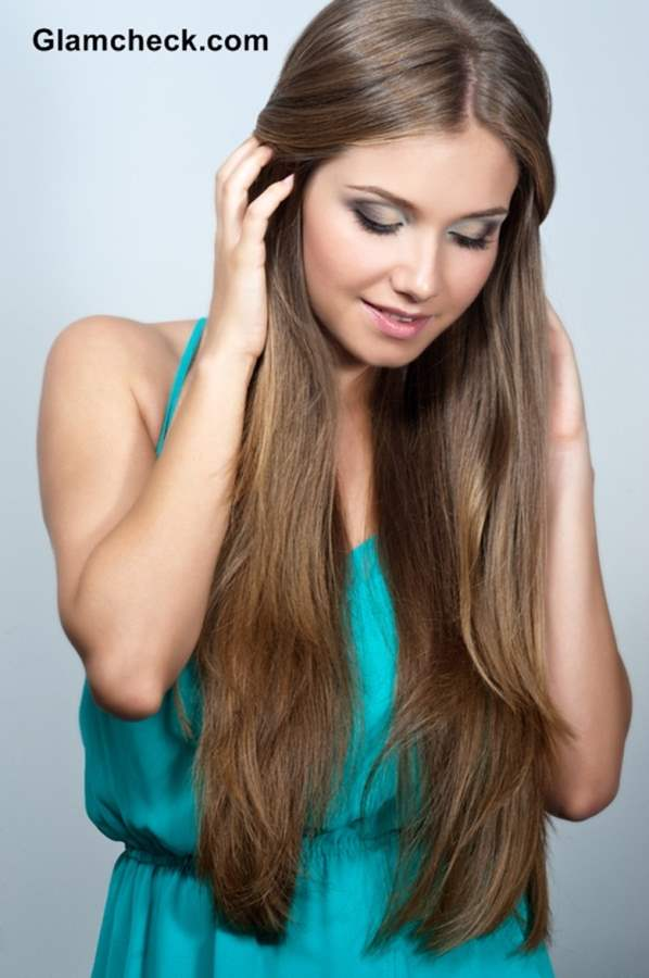 Long hair braid hairstyle