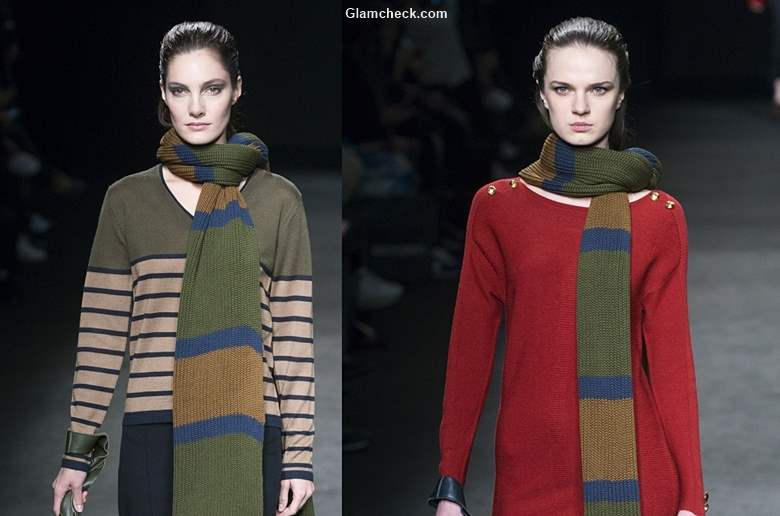 Oversized Knitted Stoles for Fall Winter 2017