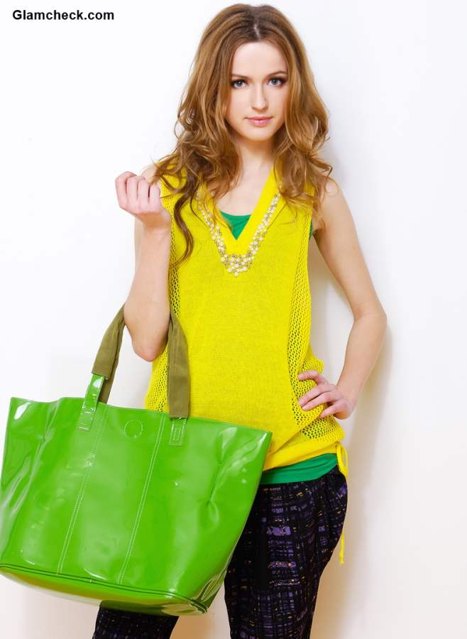 Colorful Tote Handbags for rainy season