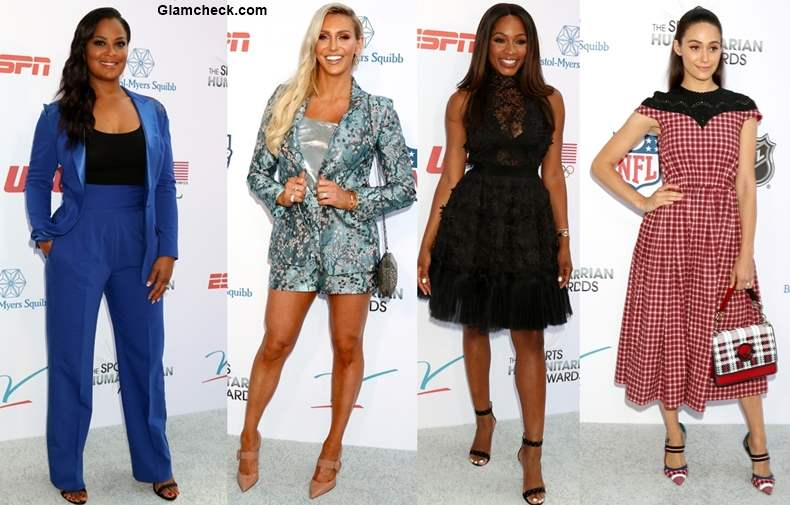 Celebrities at The Fourth Annual Sports Humanitarian Awards 2018