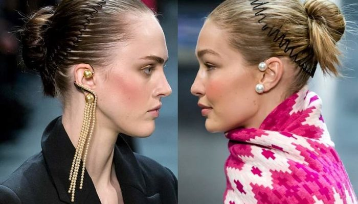 Hair Trends 2018 -The Comb Headbands at Prabal Gurung FW 2018