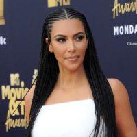 Kim Kardashian Cornrow Hairstyle