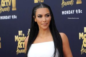 Kim Kardashian Flaunts Cornrow Hairstyle at 2018 MTV Movie And TV Awards