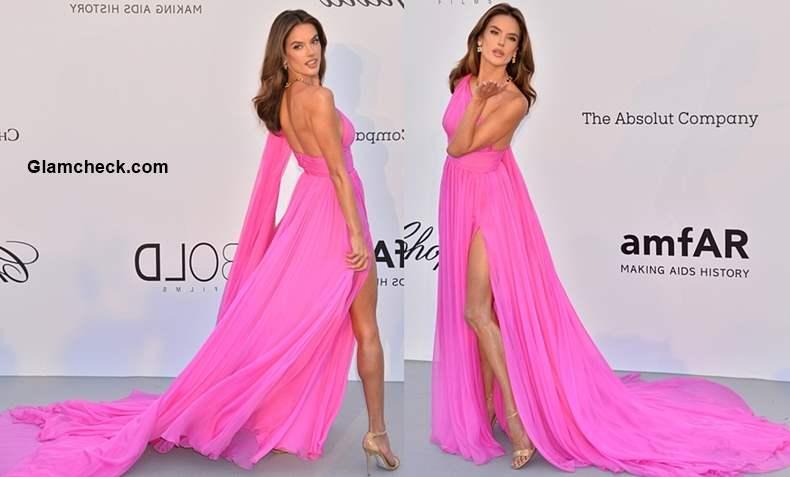 Alessandra Ahmbrosio thigh high slit gwn