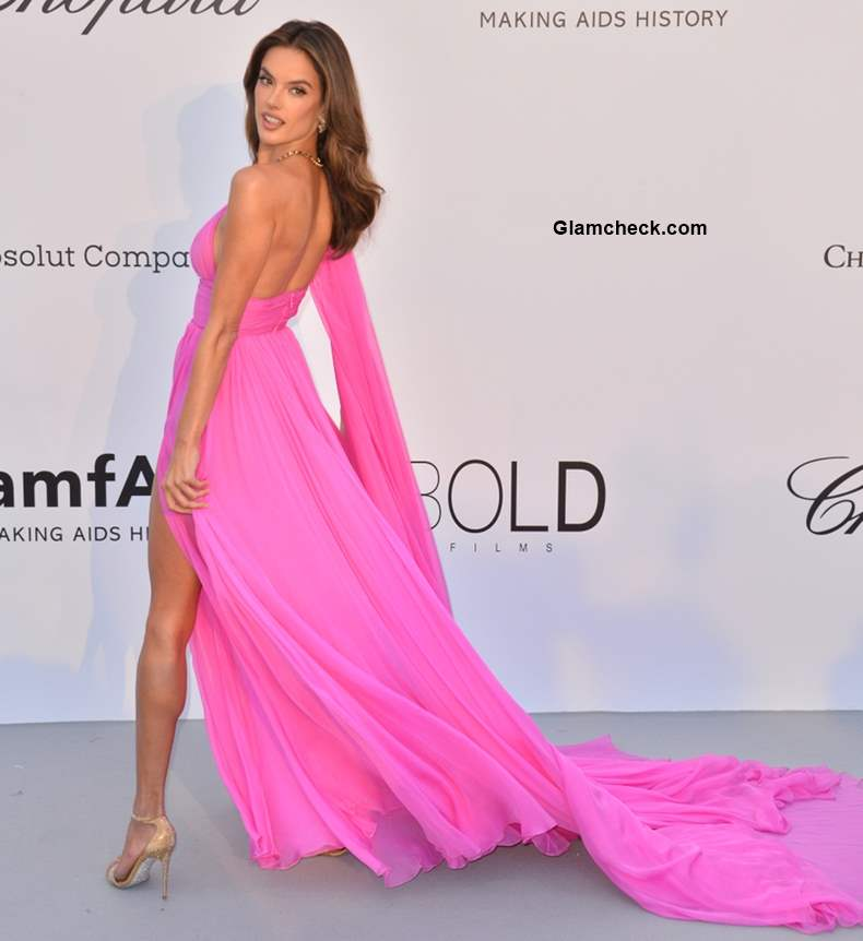 Alessandra Ambrosio 2018 Cannes Pink Gown pics