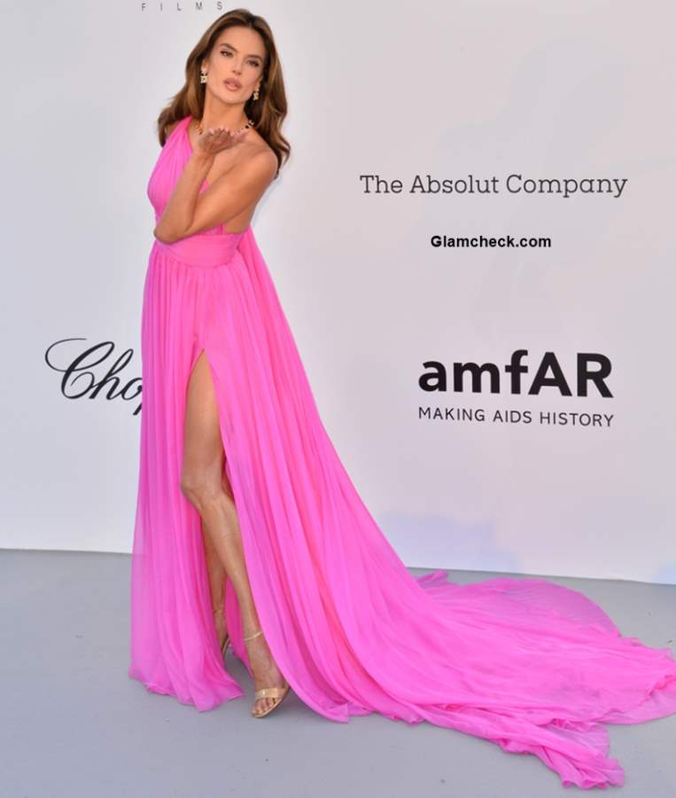 Alessandra Ambrosio 2018 Cannes Pink Gown
