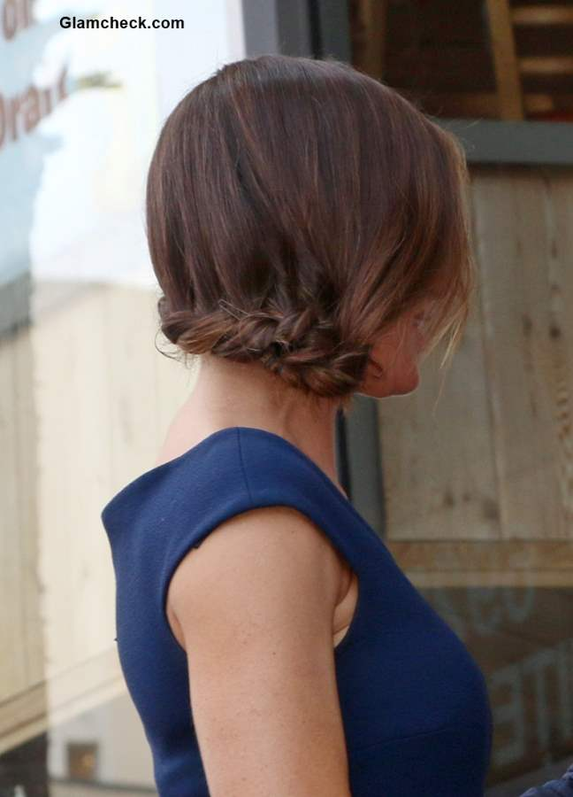 Hairstyle How To - French Braid Side Chignon