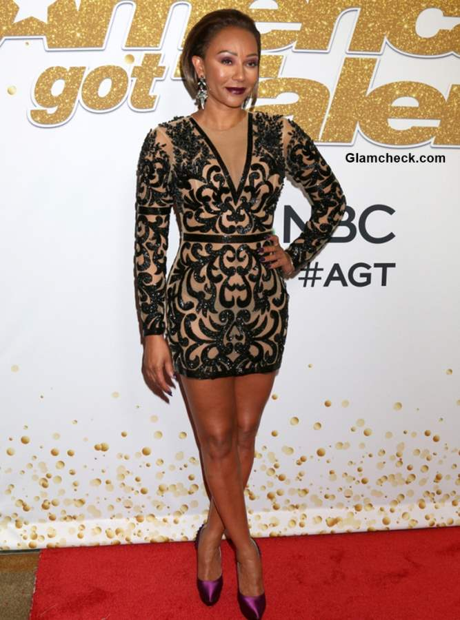 Mel B at Americas Got Talent Red Carpet