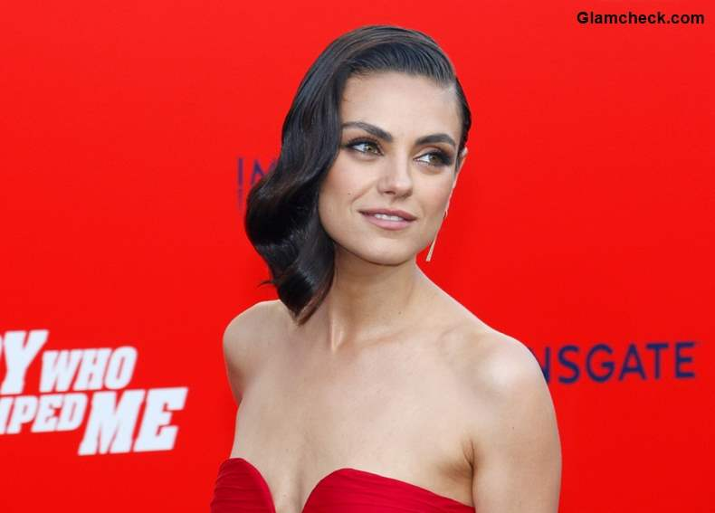 Mila Kunis Retro hairstyle at The Spy Who Dumped Me LA Premier