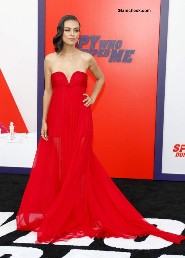 Mila Kunis at The Spy Who Dumped Me LA Premier