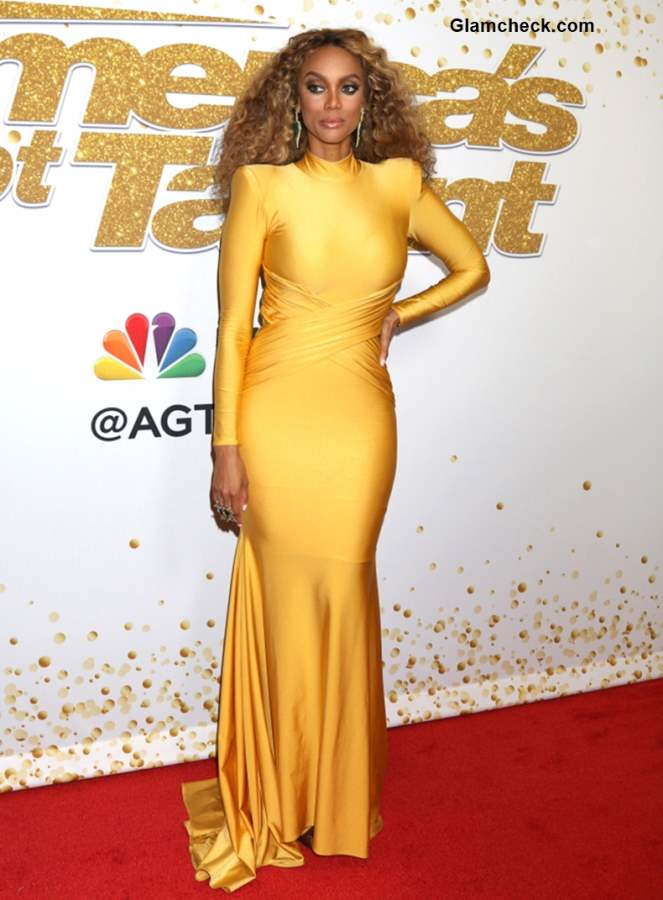 Tyra Banks 2018 Golden Gown