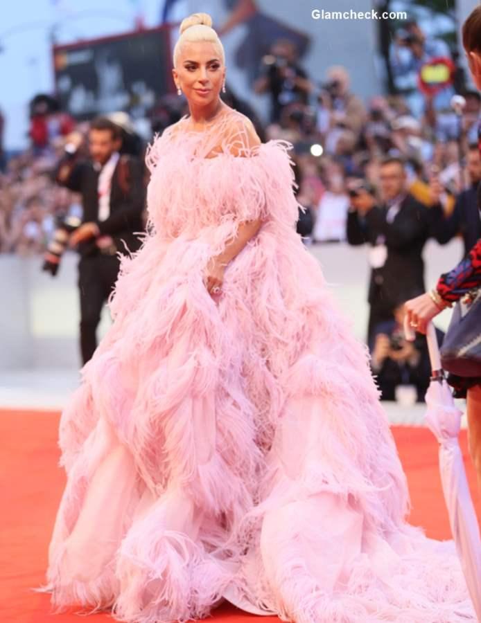 Lady Gaga in Valentino Couture Dress 2018 Venice Film Festival