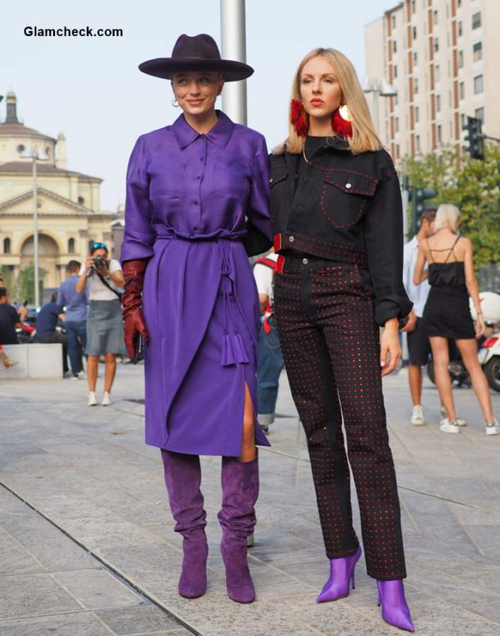 Street Style at Milan Fashion Week Fall-Winter 2018-19 Shea Marie and Caroline Vreeland