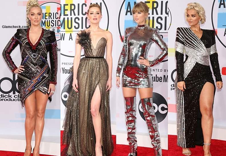 Celebrities in Dazzling Outfits at 2018 American Music Awards