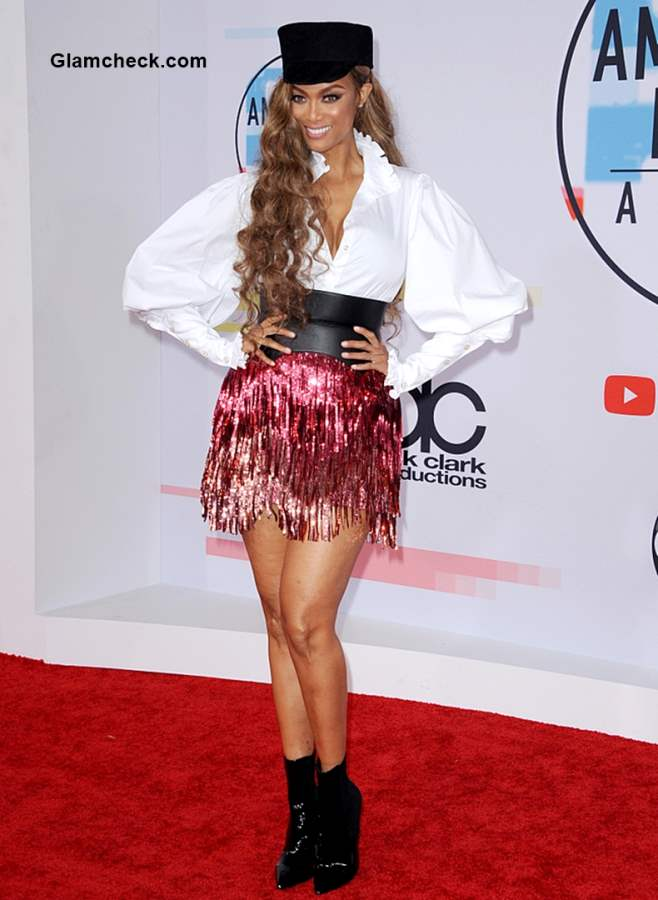 Tyra Banks at 2018 American Music Awards