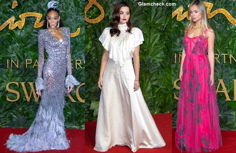 Celebrity Red Carpet looks at The British Fashion Awards 2018