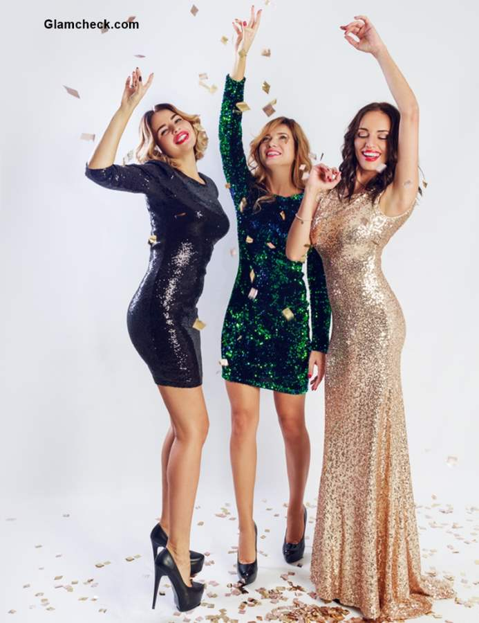 Christmas Sequin party dresses