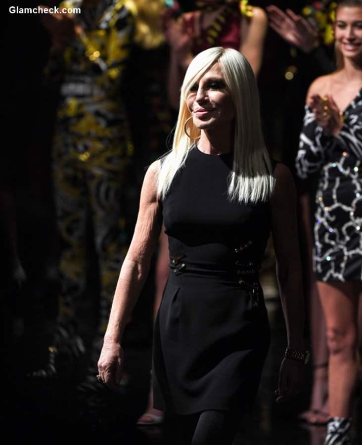 Donatella Versace AT Versace Pre-Fall show