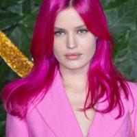 Georgia May Jagger Pink Hair Color at British fashion awards 2018