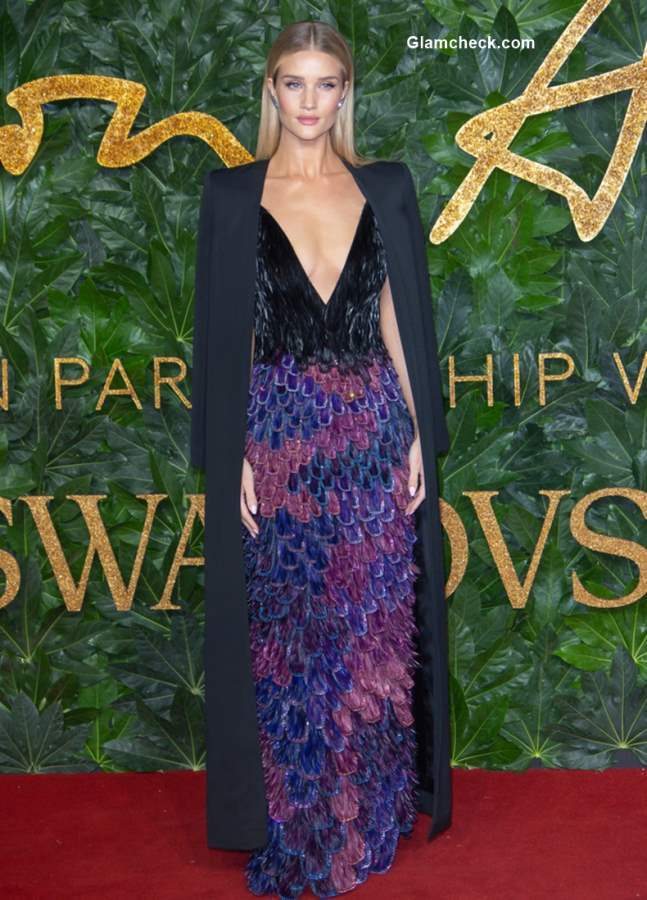 Rosie Huntington-Whiteley at The British Fashion Awards 2018