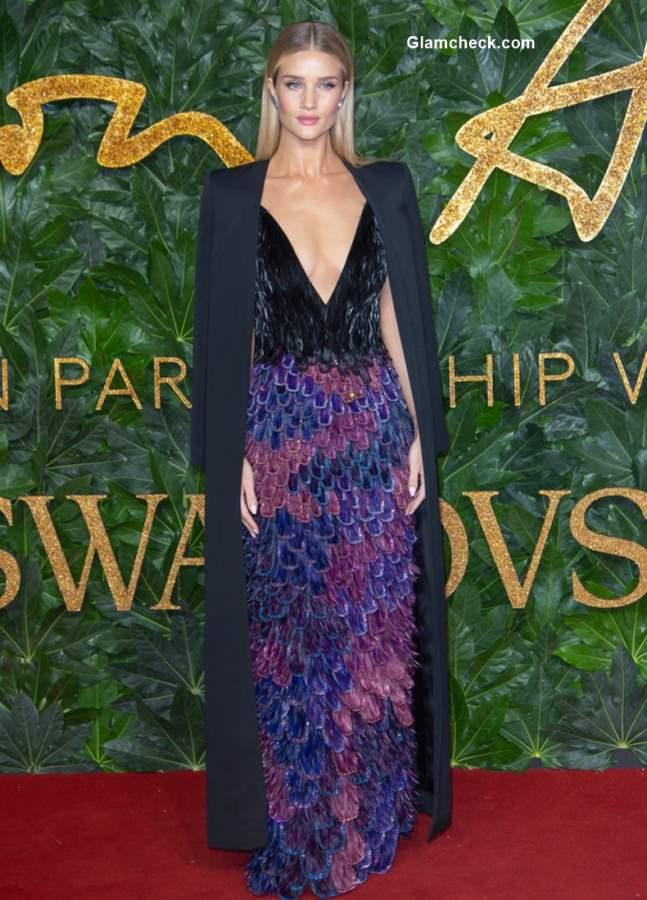 Rosie Huntington-Whiteley at The British Fashion Awards 2018