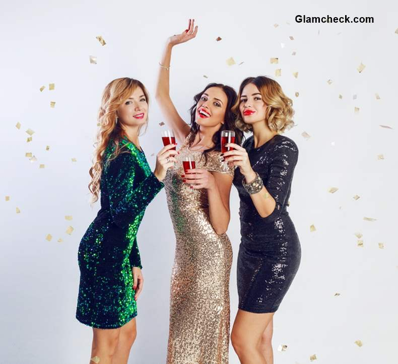 This Christmas Look Ultra Glam in Sequin Dresses