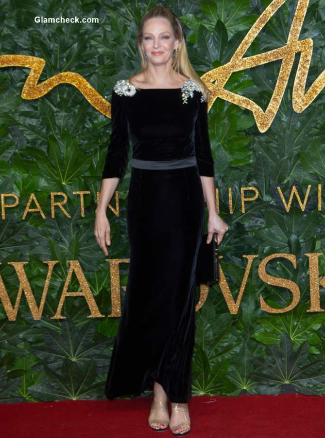 Uma Thurman The British Fashion Awards 2018