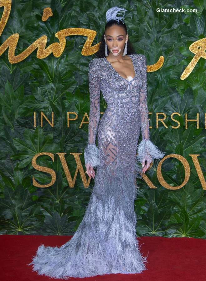 Winnie Harlow The British Fashion Awards 2018