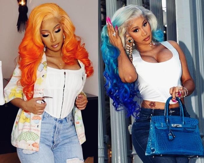Cardi B hair colors 2021 Gradient dye