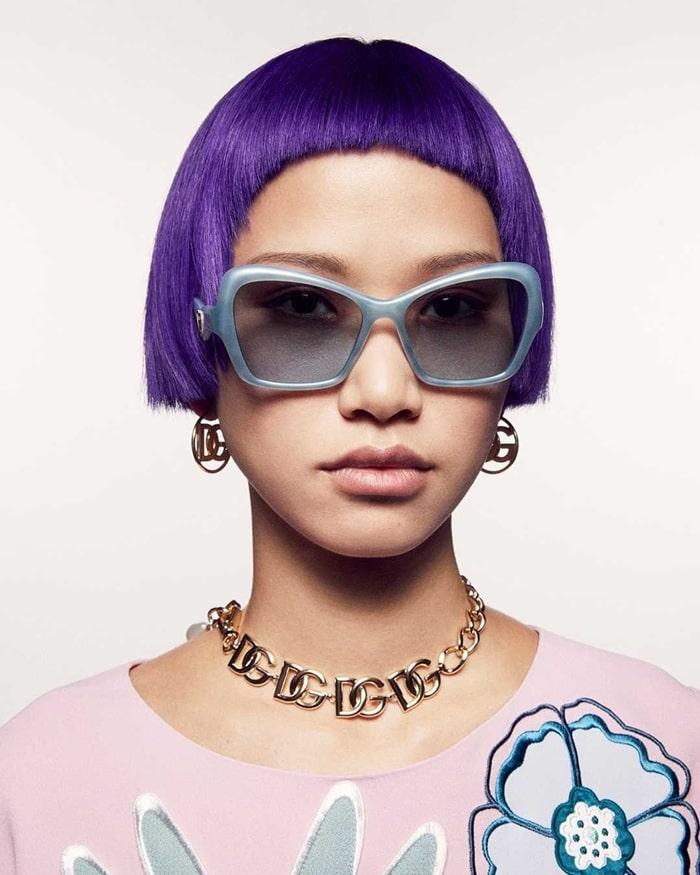 Dolce and Gabbana 2021 Geometric Transparency Sunglasses - Caty-eye